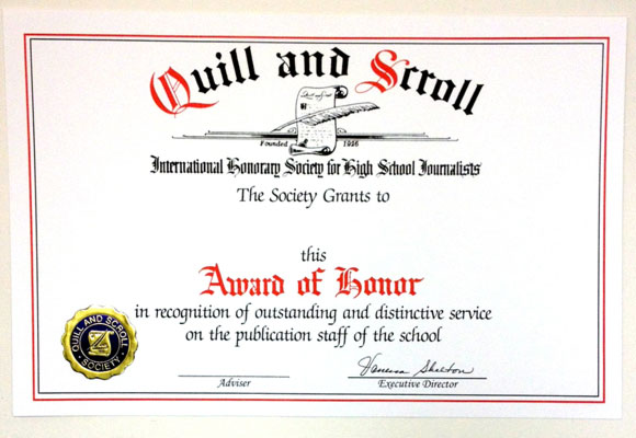 The International Honor Society for