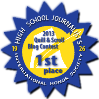 First Place in 2014 Quill & Scroll Blogging Contest