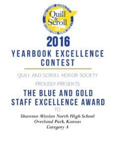 2016 Blue and Gold YB Staff Excellence Shawnee